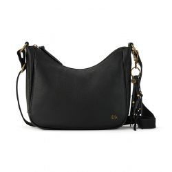 The Sak Isabella Leather Crescent Crossbody Black
