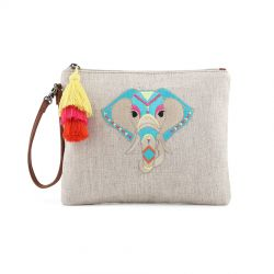 Sakroots Artist Circle Ariel Zip Pouch Aqua One World
