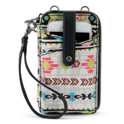 Sakroots Artist Circle N-S Smartphone Crossbody Purse Optic Spirit Wanderer