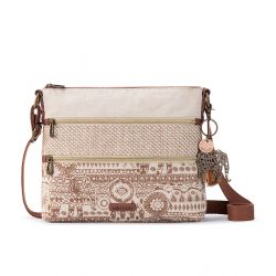 Sakroots Artist Circle Crossbody - Tobacco Batik World