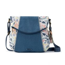 Sakroots Artist Circle Foldover Crossbody Multi Peace Birds