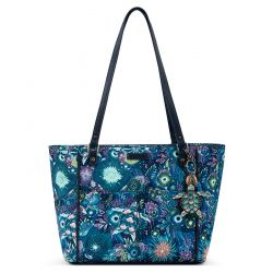 Sakroots Artist Circle Medium Satchel Royal Blue Seascape