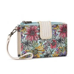 Sakroots Artist Circle Olympic Large Smartphone Crossbody Purse Pastel Flower Garden