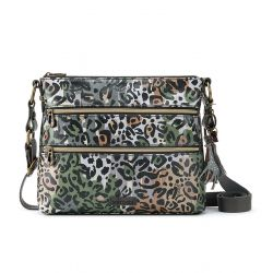 Sakroots Artist Circle Crossbody Slate Spotted Wildlife
