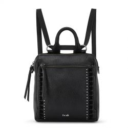 The Sak Loyola Leather Convertible Mini Backpack Black