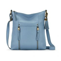The Sak Ladera Leather Crossbody Arctic Blue