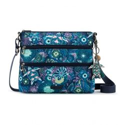 Sakroots Artist Circle Crossbody - Royal Blue Seascape