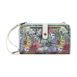 Sakroots Artist Circle Large Smartphone Crossbody Mini Bag-Purse Pastel Flower Garden