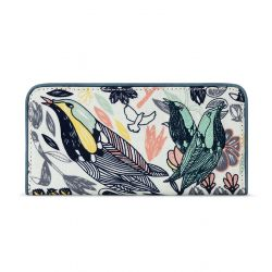 Sakroots Artist Circle Slim Wallet Multi Peace Birds