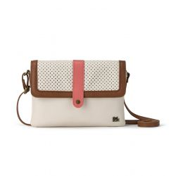 The Sak Loma Leather Crossbody Stone Perf