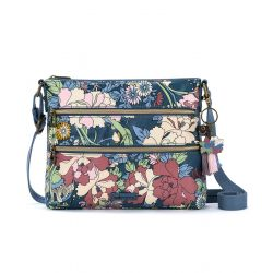 Sakroots Artist Circle Crossbody Denim Flower