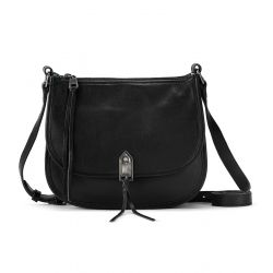 The Sak Playa Leather Saddle Bag Black