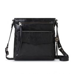 The Sak Ventura Leather Flap Organiser Crossbody Black